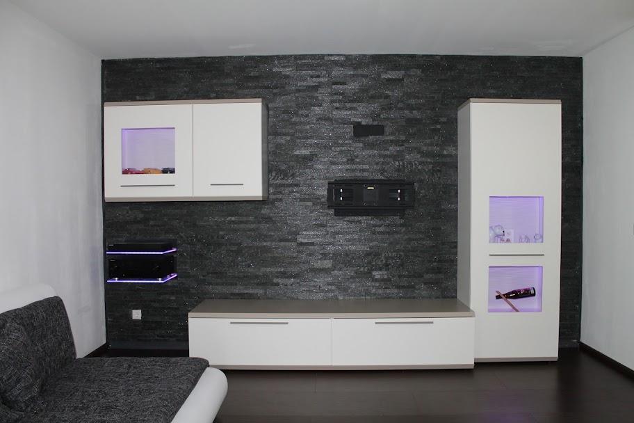 natursteinwand wohnzimmer haus design ideen
