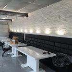 Steinpaneel Natursteinriemchen Verblender stein Wandverkleidung wandfolie steinwand Steinoptik Restaurant