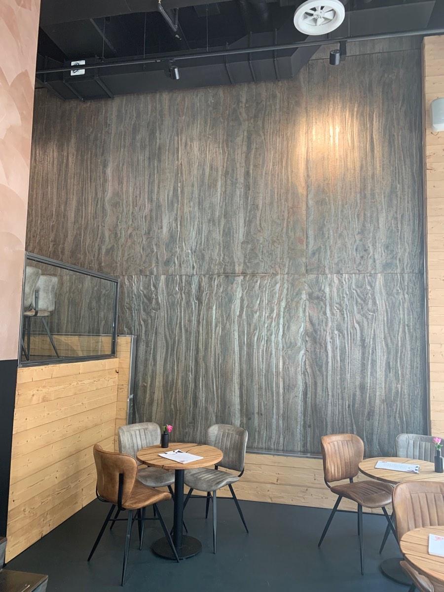Wandverkleidung Schieferfurnier Beige Braun Naturstein Marmor helle Wandsteine