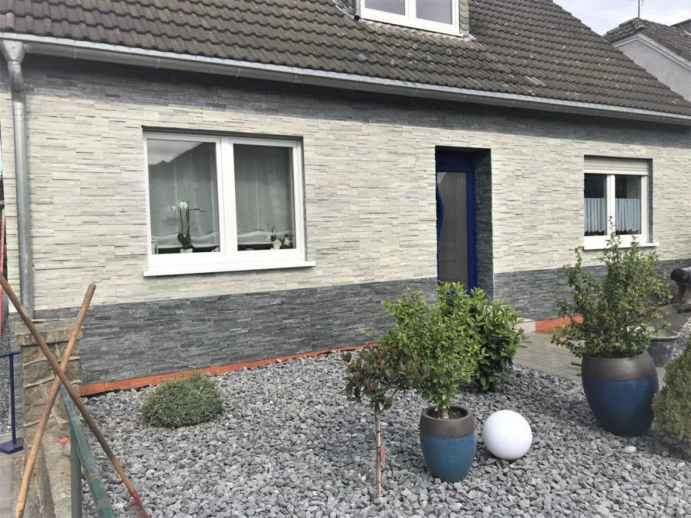 Steinpaneel Natursteinriemchen Verblender stein Wandverkleidung wandfolie steinwand Steinoptik Sockel Hausfassade