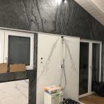 Schieferfurnier Wandverkleidung grau anthrazit Steinwand Wandgestaltung Steinfurnier