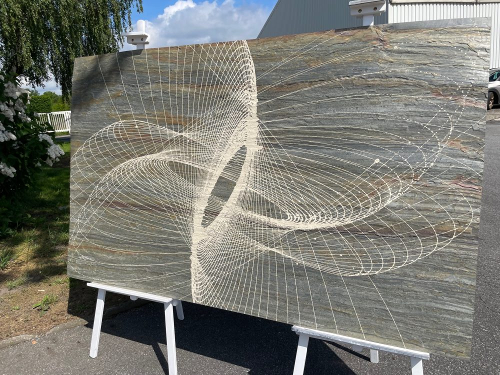 Kunstwerk Steinfurnier Wandbild
